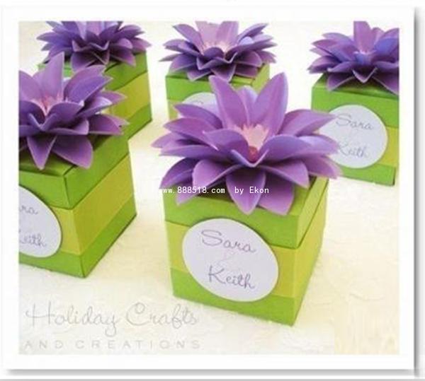 美丽的立体花朵手工折纸包装盒教程
