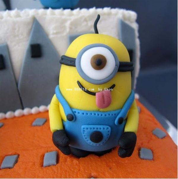 陶指艺创意手工超轻粘土可爱小黄人制作图解