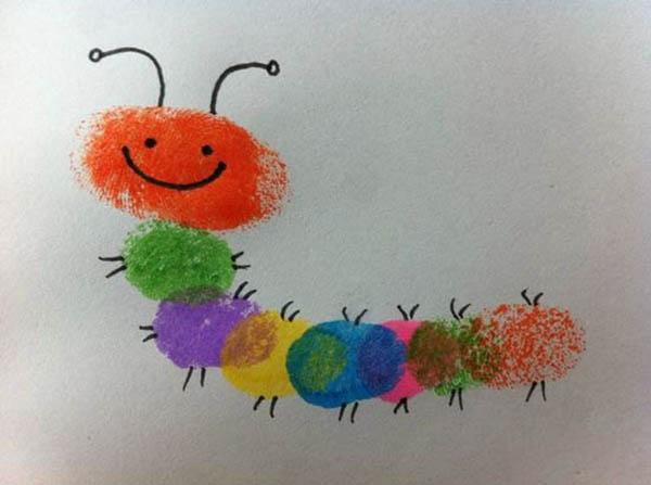 创意diy自制简单涂鸦儿童手工手指画欣赏