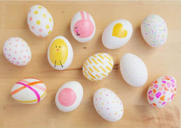 这些卡通鸡蛋涂鸦是不是很可爱啊.图片