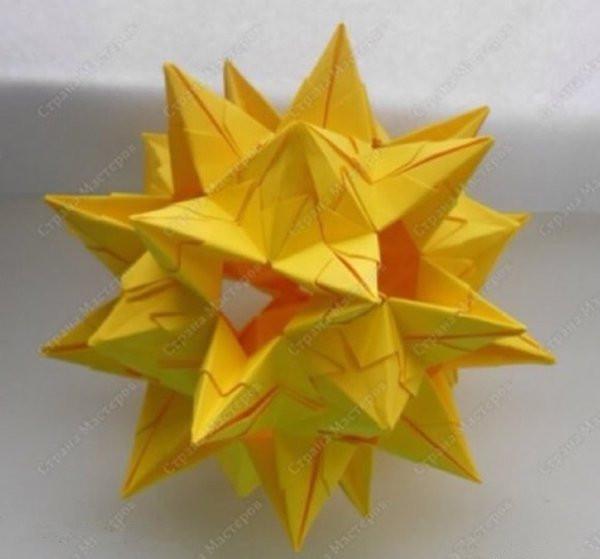 折纸花球的折法详细步骤图解教程制作