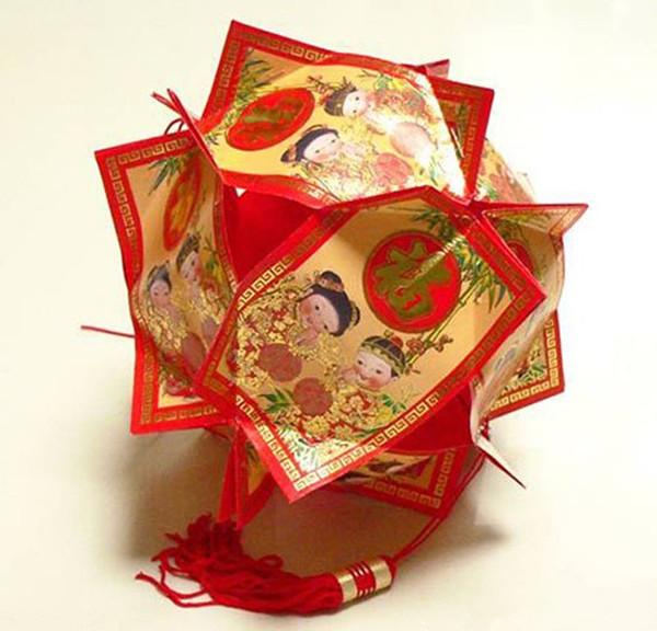 改革旧红包袋手工创意自制灯笼挂饰