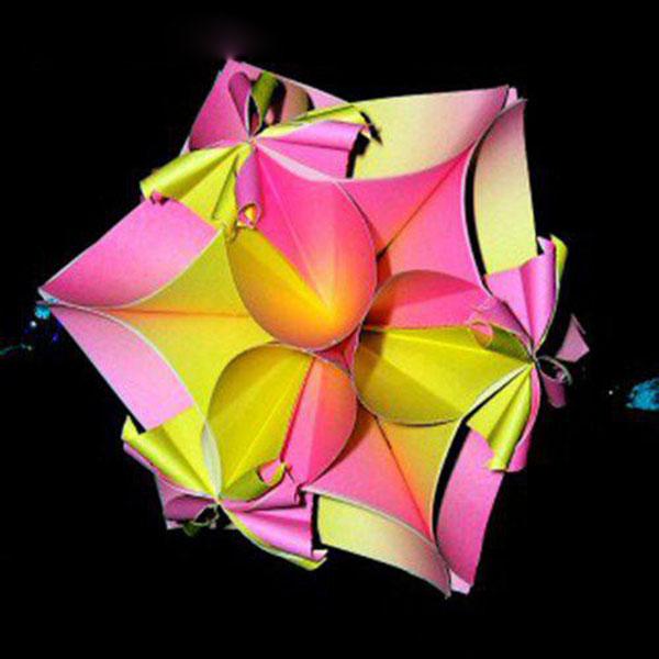 手工纸艺diy制作各种各样的美丽立体花球