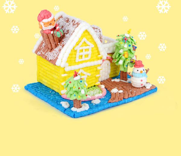 手工diy魔法玉米创意小房子的产品欣赏