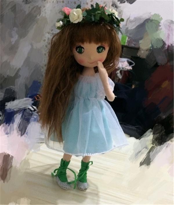 萌萌哒的手工布艺diy制作可爱森林仙子小娃娃
