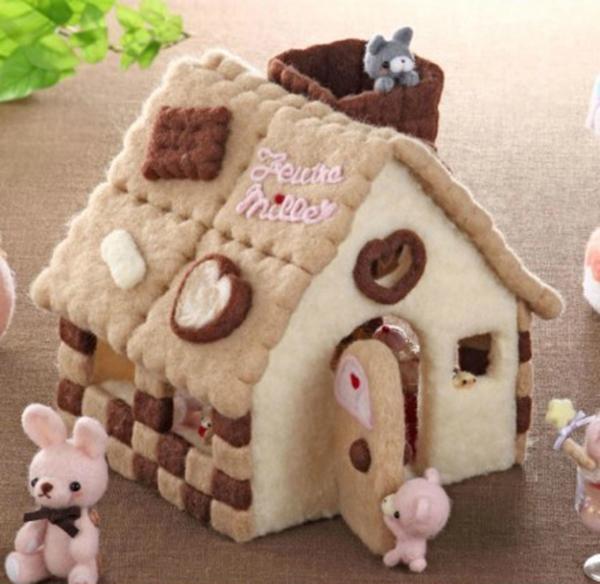 羊毛毡手工diy不一样可爱呆萌的小房子产品欣赏