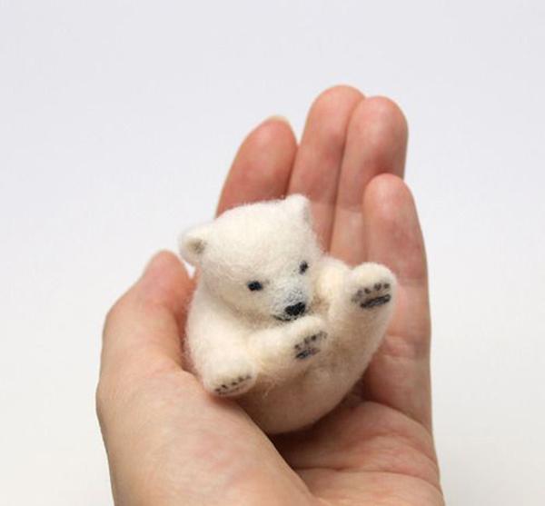 这款萌化了的羊毛毡手工diy小动物是怎样的可爱呆萌呢,就是今天