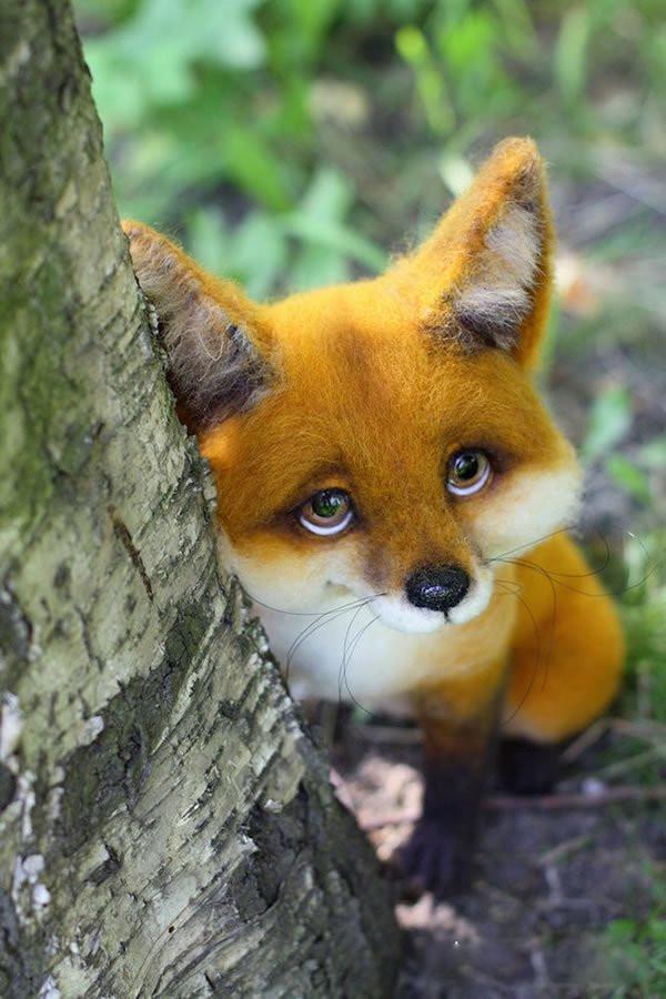 超级逼真的手工diy羊毛毡制作可爱的小动物
