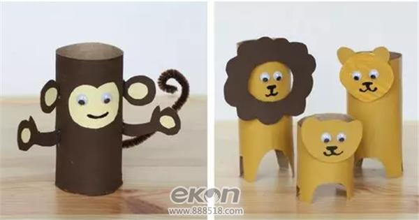 diy手工创意生活馆教你用纸筒造出一个动物园图片